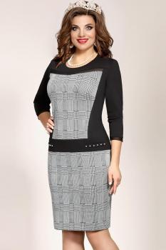 Платье Vittoria Queen 4523 Черный/Серый