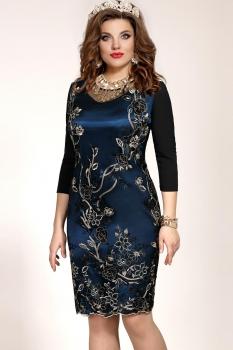 Платье Vittoria Queen 5173 Синий/Черный