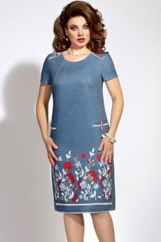Платье Vittoria Queen 5813 синий