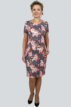 Платье Zlata 1637Б цветы