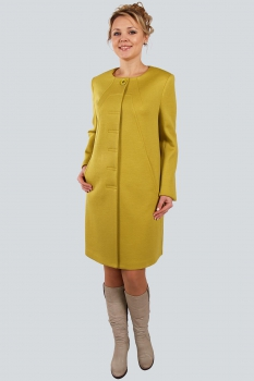 Пальто Zlata 1669 жёлтый
