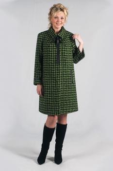 Пальто Zlata 1690 зелёные тона