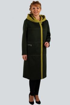 Пальто Zlata 4109 оливковый