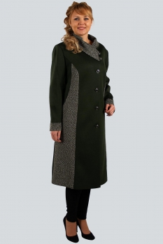 Пальто Zlata 4110 оливковый